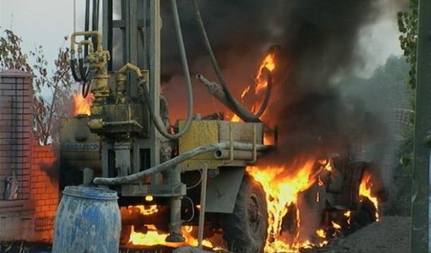 В Киеве заживо сгорел человек. Фото