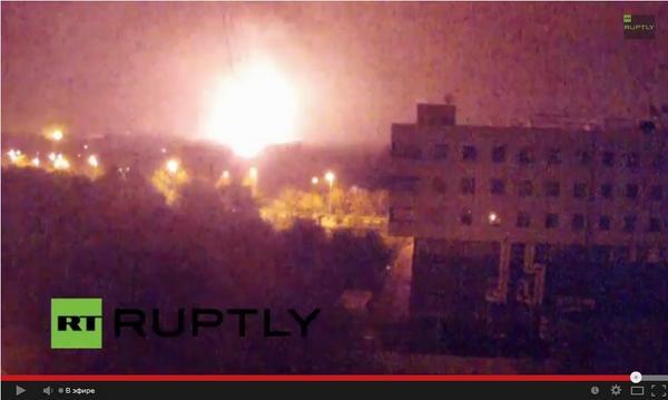 В Донецке продолжаются обстрелы: Горит аэропорт и жилые дома. Видео