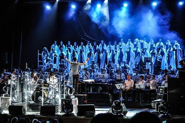 Симфо-рок взорвал Николаев: На сцене около 100 музыкантов. Видео