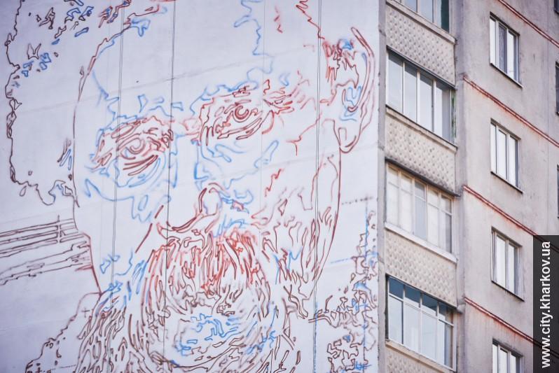 На многоэтажке Харькова появится крупнейший в Украине портрет Шевченко. Фото