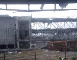Эксклюзивные кадры: Донецкий аэропорт изнутри во время артобстрела. Видео