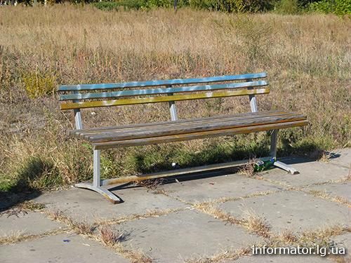 Луганск разукрасили в сине-желтые цвета. Фото
