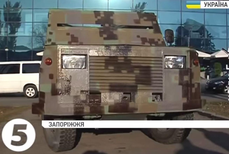 Как старый УАЗик превратили в настоящий бронеавтомобиль запорожские волонтеры. Видео