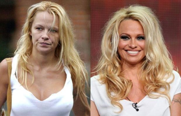 До и после звезды знаменитости макия