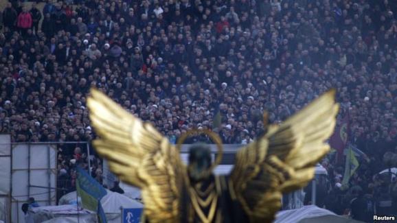 В Киеве появилась аллея Героев Небесной сотни. Видео