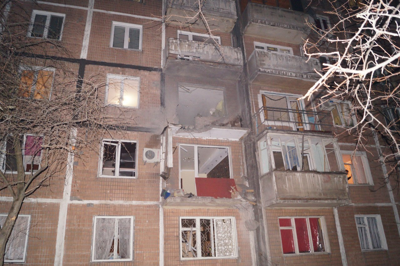 Донецк после бомбежки 8 декабря. Фото