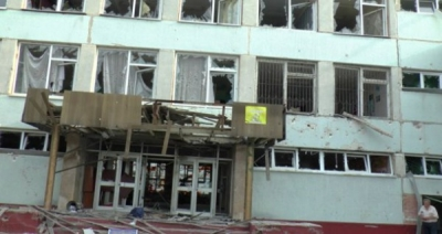 В Донецке боевики обстреляли детский сад. Видео